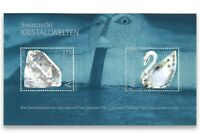 AUSTRIA 2004 SWAROVSKI CRYSTALS STAMP MINI SHEET IN PROTECTIVE CARD MINT MUH