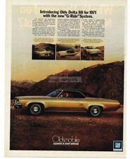 1971 Oldsmobile DELTA 88 Gold 2-door Hardtop VTG PRINT AD