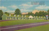 Macon Georgia~Courtesy Court~1940s Linen Roadside Motel~Postcard