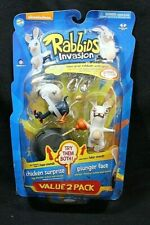 McFarlane Toys Nickelodeon RABBIDS Chicken Surprise / Plunger Face Value 2 Pack