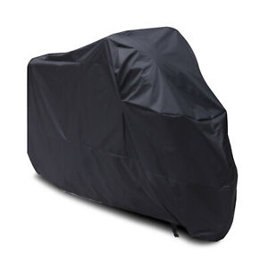 XXL Motorcycle Cover Black Motorbike Scooter UV Snow Rain Wind Outdoor Protector