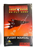 RARE! Turn and Burn No Fly Zone SNES Super Nintendo Instruction Manual Only