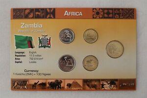 ZAMBIA COIN SET WITH COA B38 #45