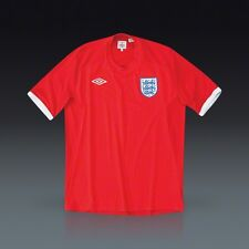Umbro England Soccer Team World Cup Away Shirt Jersey Red NEW Men's XXL 46