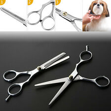 "6"" Professional Hair Cutting Scissors Cat Pet Dog Grooming Thinning Shears Set"