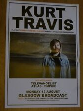 Kurt Travis + Televangelist, Atlas : Empire Glasgow aug.2018 concert gig poster