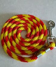Nylon Poly Miniature Horse or Pony Lead Rope Usa Made-royal red/yellow