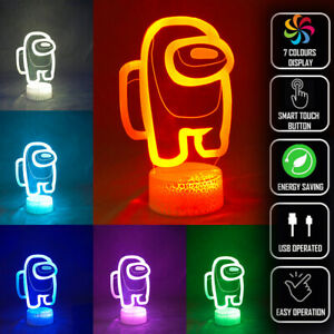 Among Us 3D Party Visual Night Light Multiple Colours LED Touch Decorative Lamp