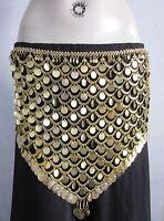 Tribal Gold Coin Belt Turkish Egyptian Belly dance Hip Scarf Gypsy Kuchi Jewelry