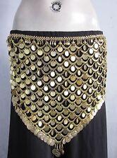 Tribal Gold Coin Belt|Turkish Egyptian Belly dance Hip Scarf Gypsy Kuchi Jewelry