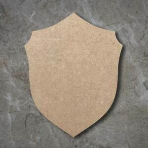 Large MDF Medieval Shield Craft Wooden Shape  Wood 20 30 40 50 60cm Unpainted