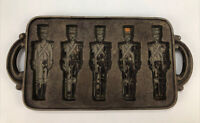 VTG John Wright Co. 1985 USA Cast Iron Toy Soldier Cookie Pan Mold Baking Pan AA