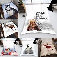 New ANIMAL 3D BLANKET Soft Print Mink Fleece THROW Sofa Winter Double Blanket
