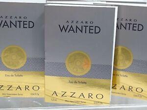 Azzaro WANTED Men's Eau De Toilette samples 7 of .04 fl oz