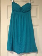 Forever 21 Teal Strapless Dress Size Medium