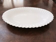 Haviland Limoge Torse White EXTRA Large Oval Serving Platter Vintage Mint