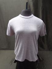 Fossil women's size M raspberry color short sleeve top blouse shirt 100% cotton