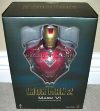 """2010 Hot Toys 1/4th Scale Iron Man 2 Movie 9"""" Mark VI (6) Bust Canadian"""