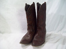 Mens Brown Horse Leather pull On Riding Western Cowboy Rodeo Boots sz 10M