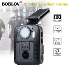 "1296P Security Body Worn Camera Police Pocket Video Recorder Night Vision 2"" LCD"