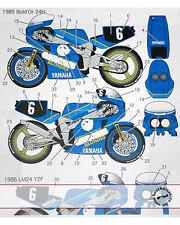 BOLD'OR 85 - LM 86 GAULOISES #6 DECAL for FUJIMI 1/12 YAMAHA FZR750