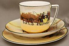 "Royal Doulton Seriesware - Trio - Cup/Saucer/Plate - **""Coaching Days"" - E3804**"