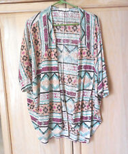 PAINTED THREADS Native American Open Front Shrug Cardigan Topper Jacket Small
