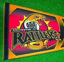 Rochester Rattlers Lacross Pennant Yellow Red Wincraft New Condition Ships Fast