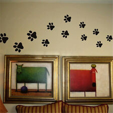 22 Walking Paw Prints Wall Decal Home Art Decor Dog Cat Food Dish Room Sticker