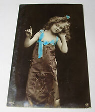 K300 - 1906 Pretty Girl ORANOTYPIE Real Tinted Photo POSTCARD No 404/2