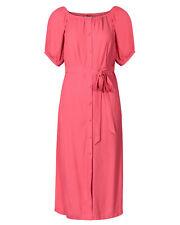 Oliver Bonas Women Bardot Pink Button Through Midi Dress