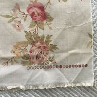 Tan Floral Shabby Chic Large Remnant Melissa By Nouveau Fabric LTD UK Printed