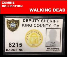 zombie ID collection..WALKING DEAD..Wallet Card<< king county SHERIFF'S DEPT>>