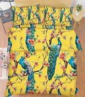 3D Peacock Flower 783 Bed Pillowcases Quilt Duvet Cover Set Single Queen King CA