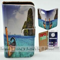 For OPPO Series - Thailand Beach Theme Print Wallet Mobile Phone Case Cover