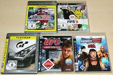 5 PLAYSTATION 3 PS3 SPIELE SAMMLUNG - FIFA UFC SMACKDOWN PES GRAN TURISMO 5 (15)