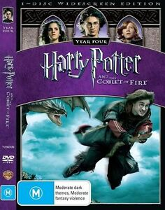 HARRY POTTER AND THE GOBLET OF FIRE DVD REGION 4 NEW AND SEALED