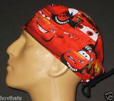 PIXAR CARS LIGHTNING MCQUEEN RED SCRUB HAT / FREE CUSTOM SIZING IF REQUESTED!