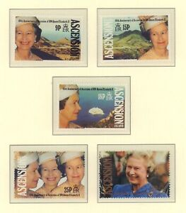 (89606) Ascension MNH Queen Accession + 40 years 1992 unmounted mint