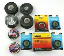 Black Rubber Electrical Tape Lot Of 11 Various Lengths