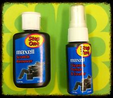 Maxell 2 Step DVD/CD Scratch Remover Polish Seal Brand New Free Shipping!!
