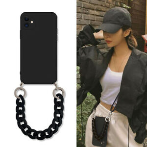 For iPhone 13 Pro Max Mini Phone Case Crossbody Lanyard Marble Chain Soft Cover