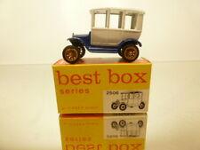 BESTBOX 2506 FORD model T 1919 SEDAN - WHITE + BLUE L5.0cm - GOOD COND. IN BOX