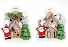 Light Up Led Christmas House Ornamental Decoration With Santa ~ Design Vary
