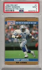 1990 Pro Set ROOKIE OF THE YEAR #1 Barry Sanders PSA 9 (919) MINT