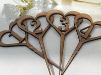 Wedding Table Numbers, Wooden Heart Design, Vintage Rustic Weddings, Full Set