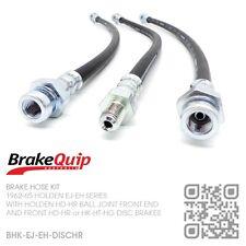 BRAKEQUIP BRAKE HOSE KIT [HOLDEN EJ-EH WITH HD-HR or HK-HT-HG DISC BRAKES]