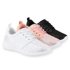 Damen Sportschuhe Runners Pailletten Glitzer Laufschuhe Sneakers 815330 Schuhe