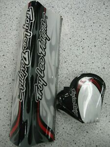 Troy Lee Designs top tube pad and stem pad NOS black white red