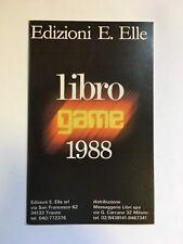 CATALOGO LIBRO GAME EDIZIONI E. ELLE 1988 librogame Lupo Solitario Sortilegio